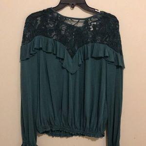 William Rast Tops - william rast // green holiday blouse
